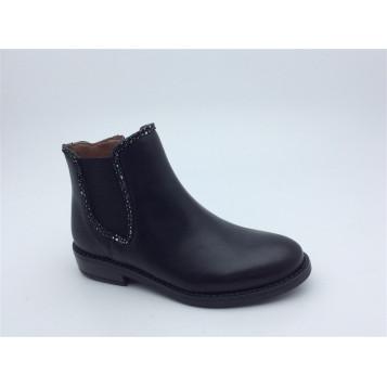 bellamy-chaussures-cuir noir-bottines