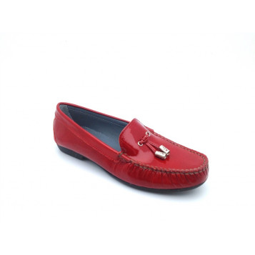 arcus-chaussures-mocassin-rouge