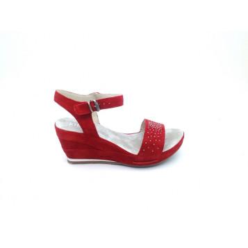 sandales-khrio-femme-velours-rouge